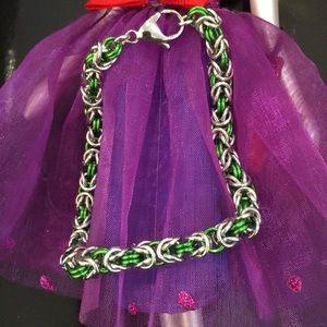Jewelry - Byzantine pattern bracelet w/Sterling  Clasp